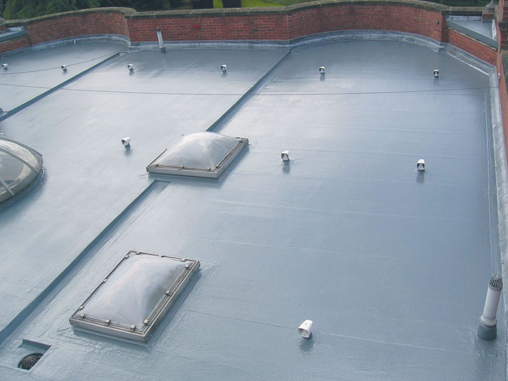 commercial fibreglass roof protection