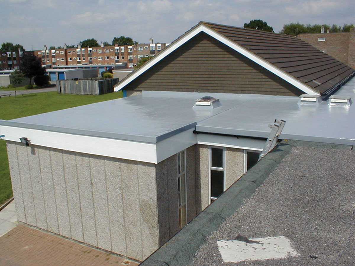 fibreglass roof protection commercial extension