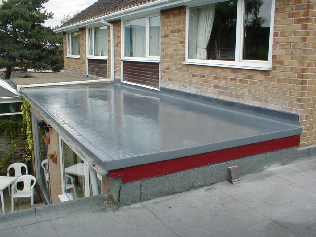 fibreglass roof protection house extension